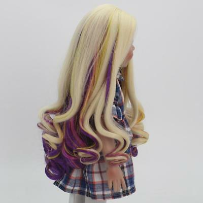 "2 Set Fashion Long Curly Hair Wig Making for 18"" American Girl Dolls Make Up"