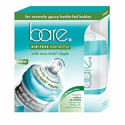 Bare Air-free 4 Ounce 2 Pack Baby Bottle with Easy-latch Nipple - D86218AA 4oz