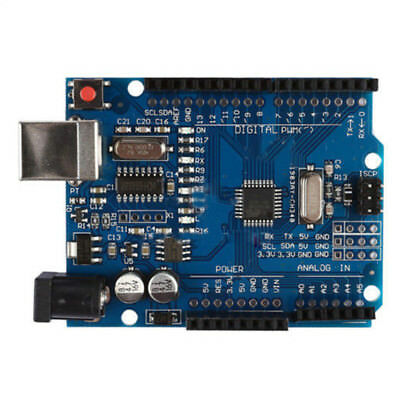 Fit For Arduino UNO R3 328 ATMEGA328 Compatible Board Board with USB Cable Blue