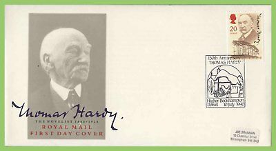 G.B. 1990 Thomas Hardy on Royal Mail First Day Cover, Higher Bockhampton