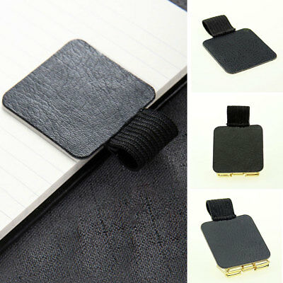 Useful Self Adhesive Faux Leather Pen Pencil Loop Notebook Clip Holder 40*40mm