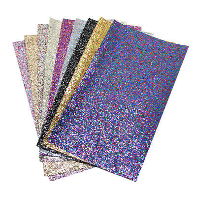 20*34cm Glitter PU Systhetic Leather Fabric Sheets DIY Handmade Craft Hair Bows