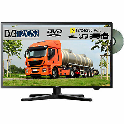 Gelhard GTV-2482 LED 24 Zoll Wide Screen TV DVD DVB/S/S2/T2/C 12/24/230 Volt LKW