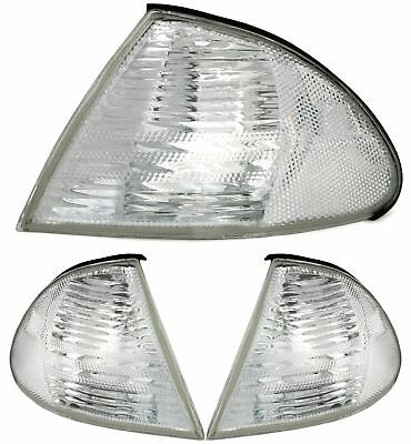 FRONTBLINKER SET für 3er BMW E46 Limo Touring -8/01 in SILBER WEISS EAGLE EYES