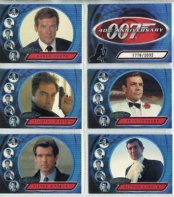 James Bond 40th Anniversary Preview 6 Card Chase Set
