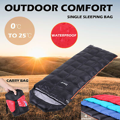 Soft Duck Down Single Envelope Sleeping Bag Thermal Outdoor Camping Hiking Tent