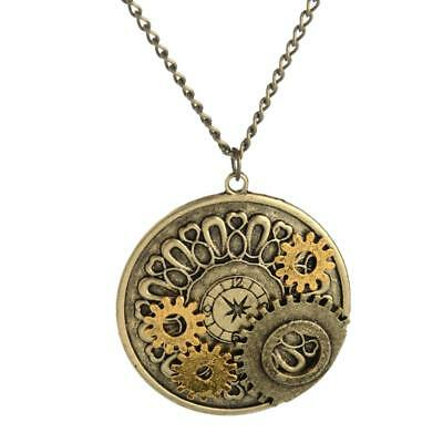 Watch Gears Necklace Steampunk Pendant Machinery Gear Movements Gothic Mens