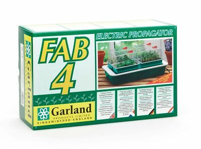 New Garland Fab 4 Electric Propagator Heated Ventilated Seed Tray 38x24x17.5cm