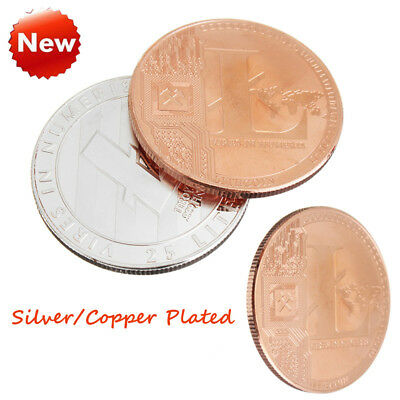 Silver/Copper Plated Commemorative Litecoin Collectible Iron Miner LTC Coin Gift