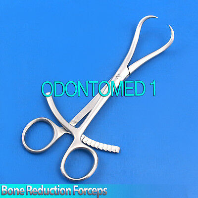 """3 Bone Reduction Forceps Curved Pointed Tips 7"""" Orthopedic Instruments"""