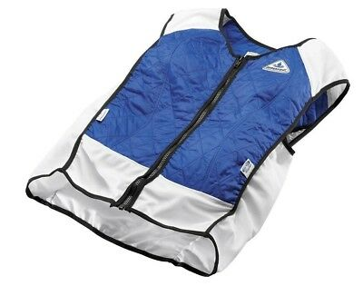 NEW Techniche Hybrid Cooling Sports Vest Riding Apparel for Hot Days Royal Blue