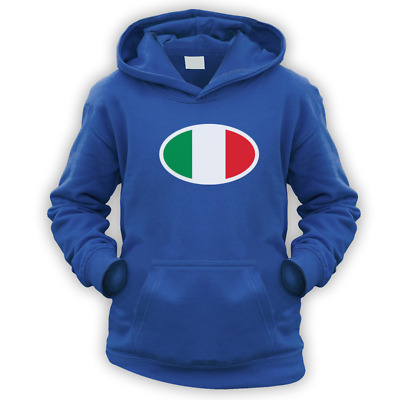 Italian Flag Kids Hoodie -x9 Colours- Gift Present Football Cup Rugby Italy