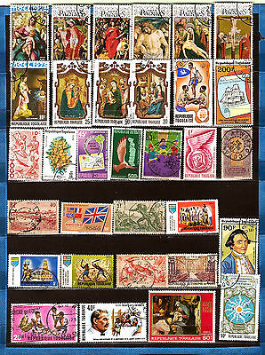 TOGO Paintings religious christmas , Paques, figures various 164T4