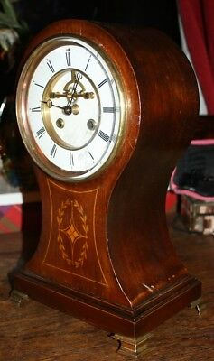Very Attractive Large Antique French Balloon Clock Gay Vicarino Paris