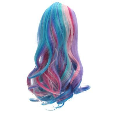 """Colorful Wavy Curly Hair Wig Making for 18"""" American Girl Dolls Repair ACCS"""
