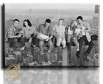 Wall Art Canvas Picture Print of Friends on Crane  Framed  Ready to Hang