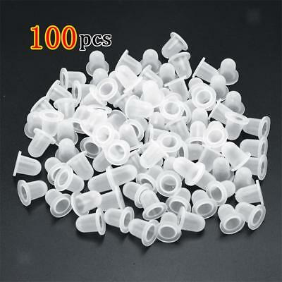 100x Silicone Pigment Cups Caps Tattoo Ink Holder Permanent Makeup Supplies
