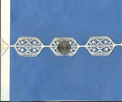 Antique HANDMADE Cotton Needle Lace Medallions Fashion/ Decor BTY Old White