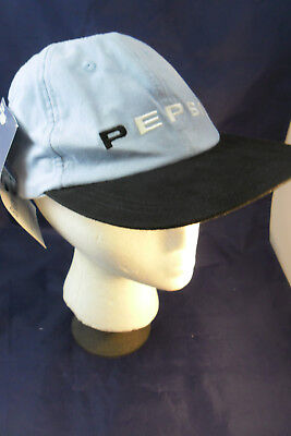 Pepsi Generation Next Ball Cap; Lt Blue & Black; VGC Unworn NWT; SHIPS FREE