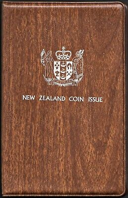 New Zealand 1976 Uncirculated Seven Pc. Set In Original Mint Folder (Km# Ms22)