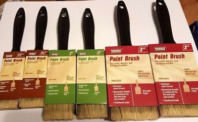 6 Professional Synthetic Paint Brush Assortment All Purpose Paint Brushes