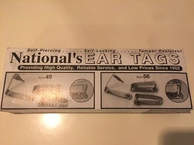 National Band & Tag Hasco Style 49 Tag Metal Cattle ID Ear Tags 101 - 200 SS