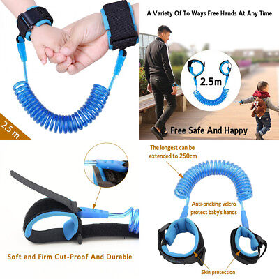 Baby Child Anti Lost Safety Wrist Link Harness Strap Rope Backpack Leash...