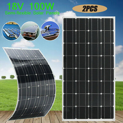 Elfeland 18V 100W Flexible Solar Panel For Motorhome Boats Roof Battery Charger