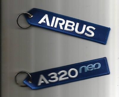 PORTE CLE  FLAMME AIRBUS A320neo NEUF SOUS BLISTER