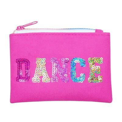 NEW Pink Poppy Hot Pink Sequinned Dance in Style Zipped Coin Purse