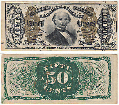 50 Cent 3rd Issue Fractional Currency F-1339 Spinner Extra Fine