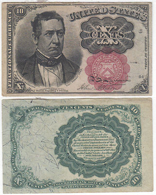 10 Cent 5th Issue Fractional Currency F-1266 Meredith Choice AU