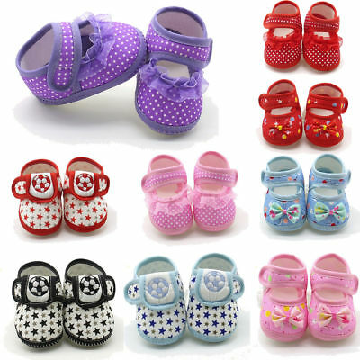 Newborn Infant Baby Girls Bow Soft Sole Prewalker Warm Casual Flats Shoes