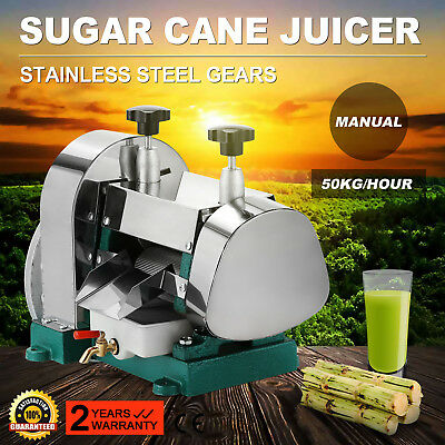 Manual Sugarcane Juicer Sugar Cane Grind Press Machine Stainless Steel