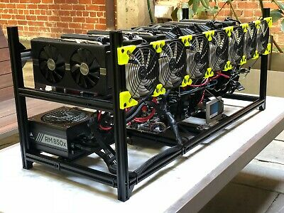 8 GPU AMD RX580 8GB- Cryptocurrency Mining Rig; Eth/Zcash/Monero/Cryptonight