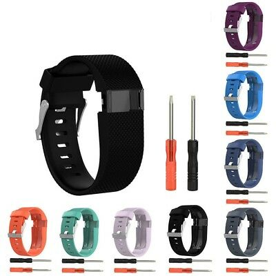 Hellfire Trading Wristband Bracelet Band Strap for Fitbit Charge HR Replacement