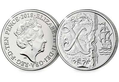 2018 UK X Marks the Spot EARLY STRIKE 10p [Ref 298V]