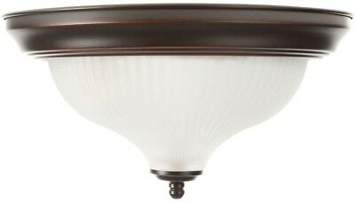 109dfc16ace Bronze Flushmount Hampton Bay 11 in 2-Light Oil-Rubbed Frosted Swirl Glass  Shade
