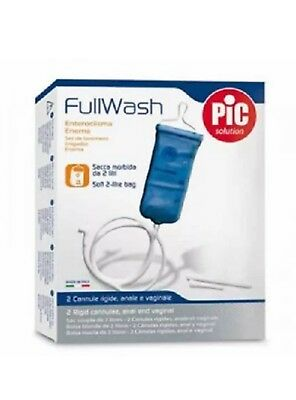 FullWash Internal Home Enema Kit Colonic Irrigation Reusable Bag Detox 2L Colon
