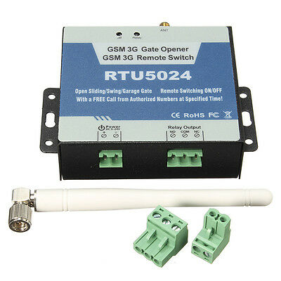 RTU5024 GSM Door Gate Opener Remote Control Switch Authorized Phone Free Call.