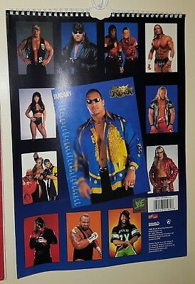 Calendario Ufficiale WWE WWF 2001 40 x 30 cm poster Undertaker The Rock Triple H