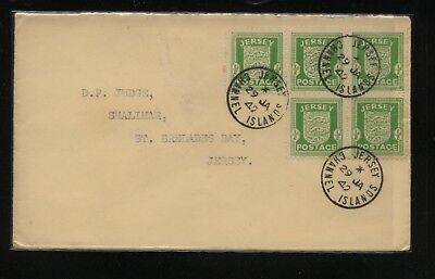 Jersey   N1  (5) stamp on cover  1942          MS0218