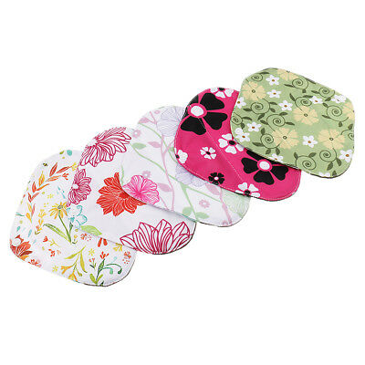 5x Women Cotton Menstrual Period Pads Sanitary Panty Liner Reusable Washable