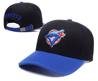 Toronto Blue Jays Baseball MLB Unisex Hat Cap Black & Blue Peak AU Stock