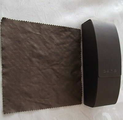 Used - Osiris brown glasses / sunglasses case & cloth - proceeds to charity