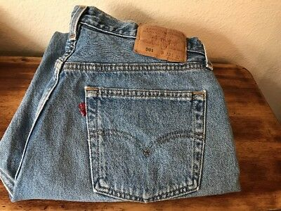 """Womens VTG Levis 501 32X 31 11"""" Rise Button Fly Mom Jeans High Waisted USA !"""