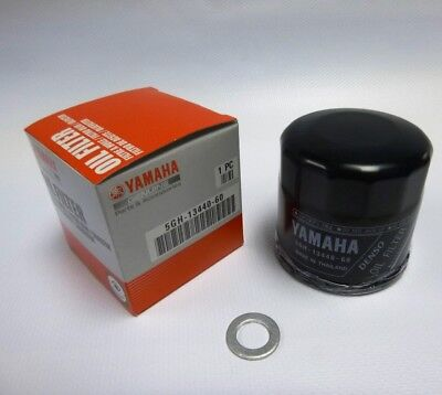 Genuine Yamaha oil filter 5GH-13440-60-00 & Sump Washer most Yamaha's 2006 on