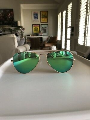 6396bdb56bf New Ray-Ban Aviator Sunglasses RB3025 112 19 Matte Gold Green Mirror Lens  58mm