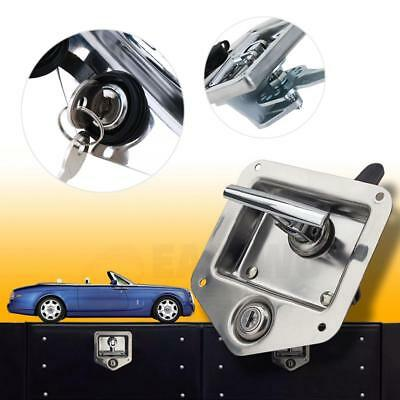 T Type Handle Lock Trailer Car RV Caravan Truck Vehicle Panel Latch Toolbox Lock  sc 1 st  PicClick : metal caravan storage box  - Aquiesqueretaro.Com