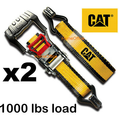 2 x Heavy Duty Ratchet Strap - 1000lbs Load, Tie Downs Lashing Rachet